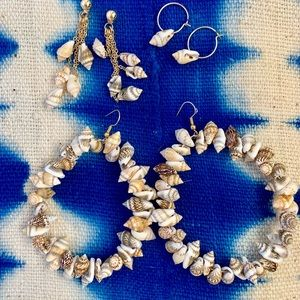 Bundle of Shell Statement Earrings